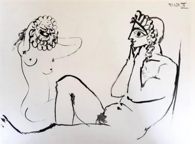 Pablo Picasso After Pablo Picasso The Human Comedy Heliogravure 1954