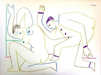 Pablo Picasso After Pablo Picasso The Human Comedy Lithograph 1954