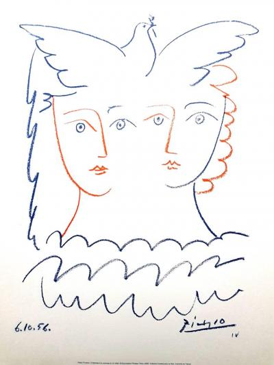 Pablo Picasso After Pablo Picasso Women and Dove Lithograph 1956