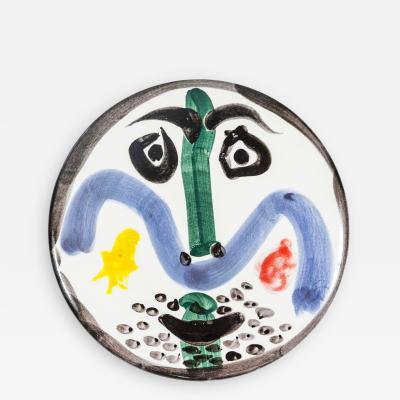 Pablo Picasso Fantastic Visage No 130 Madoura Ceramic Plate by Pablo Picasso