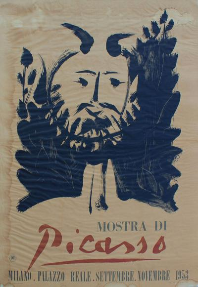 Pablo Picasso Mostra di Picasso 1953 Large Poster