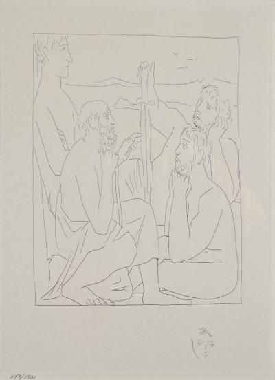 Pablo Picasso Nestors Tales of the Trojan War