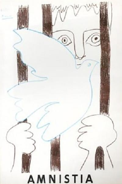 Pablo Picasso POSTER MADE BY PICASSO FRANCE 1959