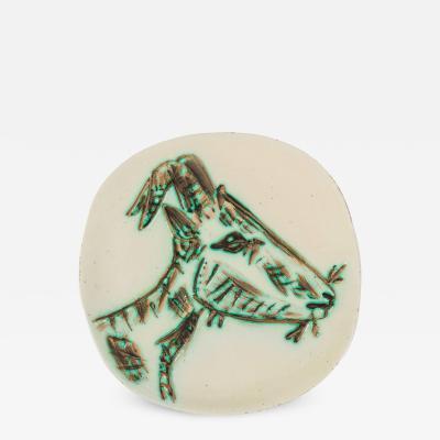 Pablo Picasso Pablo Picasso Ceramic Plate Tete de Chevre de Profil for Madoura France 1950