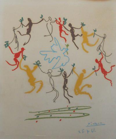 Pablo Picasso Pablo Picasso La Ronde de la Paix Lithograph