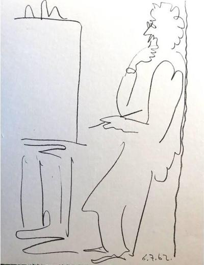 Pablo Picasso Pablo Picasso The Painter Original Lithograph 1962