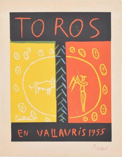 Pablo Picasso Picasso Linocut Toros Vallauris 1955 36 100 Signed Picasso Arnera