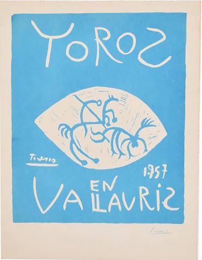 Pablo Picasso Picasso Linocut Toros Vallauris 1957 Signed Arnera 38 200