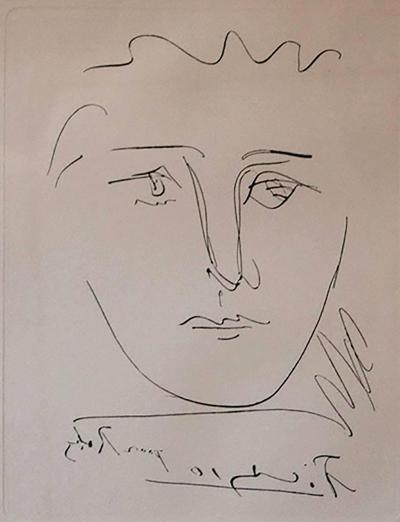 Pablo Picasso Pour Roby Etching by Pablo Picasso