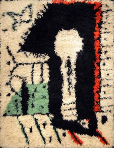 Pablo Picasso Rare Rug Designed by Pablo Picasso La Serrure circa 1955