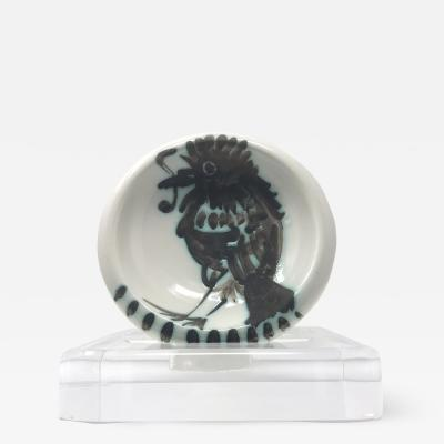 Pablo Picasso Signed Picasso Bowl Bird and Worm