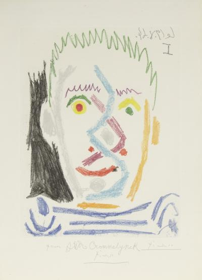 Pablo Picasso Tete dHomme Autete dHomme au Maillot Raye