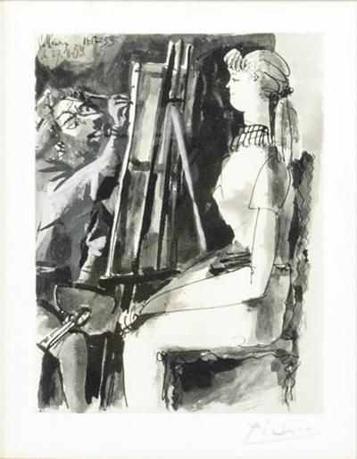 Pablo Picasso artist Model Lithograph