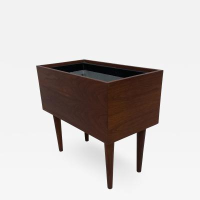 Pablo Romo 1960s Repurposed Speaker Box Pedestal Planter Catch It All Container in Walnut