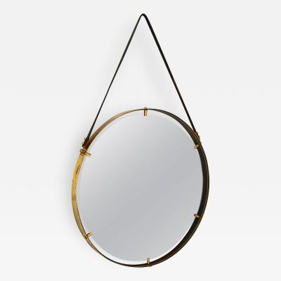 Pablo Romo Brass Wall Hanging Mirror AMBIANIC