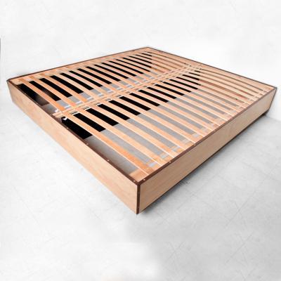 Pablo Romo Custom PABLEX Pine Walnut King Platform New Modern Bed by Pablo Romo Ambianic