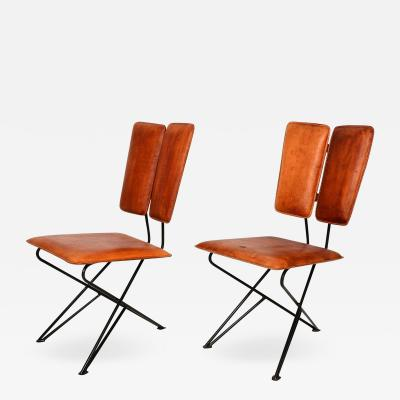 Pablo Romo Mid Century Modern Design Pablex Tripod Chair in Leather by Ambianic