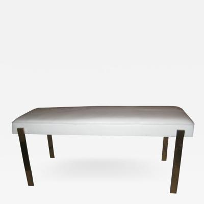 Pace Brass and Leather Bench