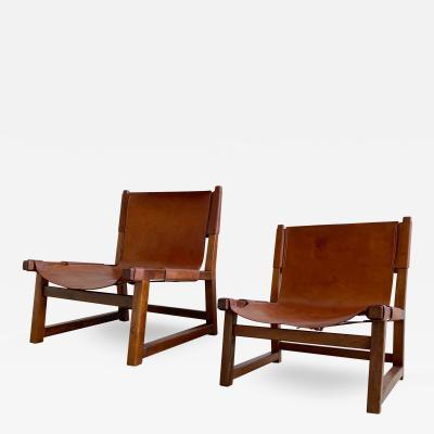 Paco Mu oz Pair of Paco Mu oz Sling chairs