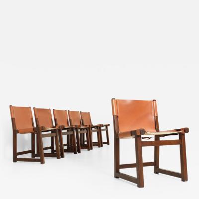 Paco Mu oz Set of Six Riaza Chairs by Paco Mu oz for Darro Spain