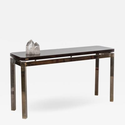 Paco Rabanne French Post War Brass and Quartz Console Table
