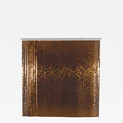 Paco Rabanne Iconic Copper Color Space Curtain by Paco Rabanne