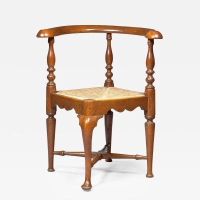 Pad Foot Queen Anne Corner Chair