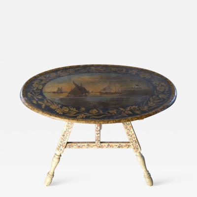 Painted 18th century Dutch Oval Hindeloopen Table