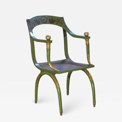 Painted 19th Century Armchair by Jean Joseph Chapuis