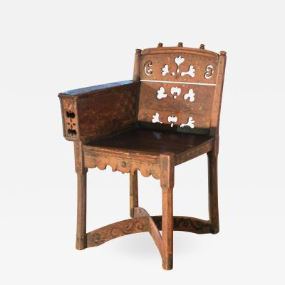 Painted 19th century Folk Art Childs Chair