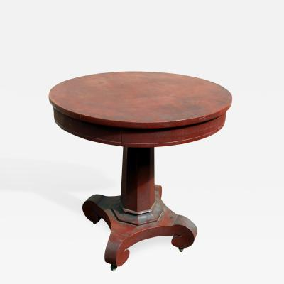 Painted Center Table with Drawer Circa 1840