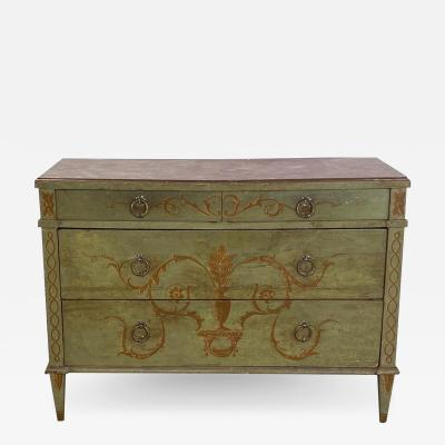Painted Italian Chest of Drawers Circa 19th Century