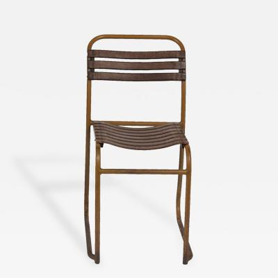 Painted Metal and Bakelite Slack Stacking Chair 10 Available