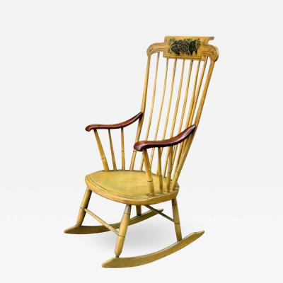 Painted Rocking Chair Original Paint New England circa 1840