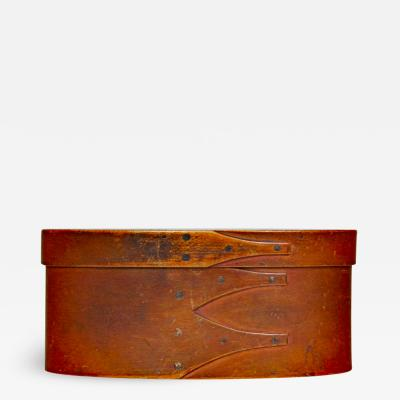 Painted Shaker Bentwood Oval Storage Box