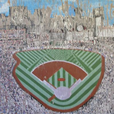 Painted Sign of Busch Stadium in St Louis