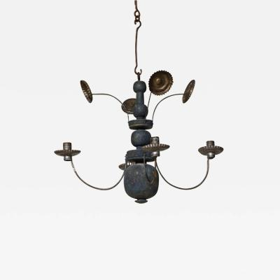 Painted Swedish Folk Art Chandelier