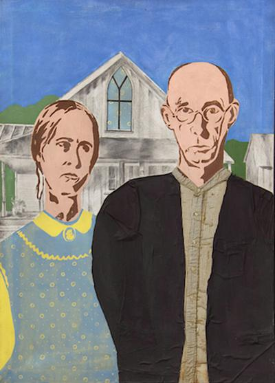 Painting Stylized After Grant Woods American Gothic