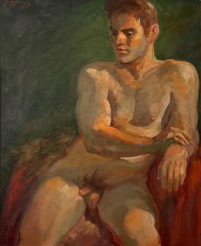 Painting of a Male Model Circa 1950
