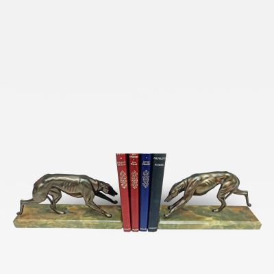 Pair Art Deco Bronze Bookends France C 1930