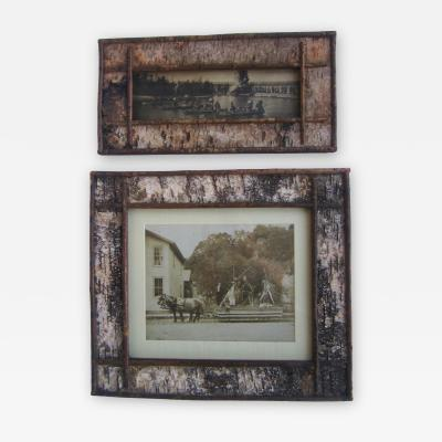 Pair Birch Bark Frames