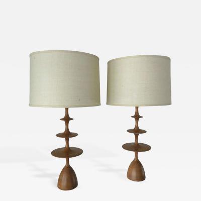 Pair Cerused Oak Metro Table Lamps