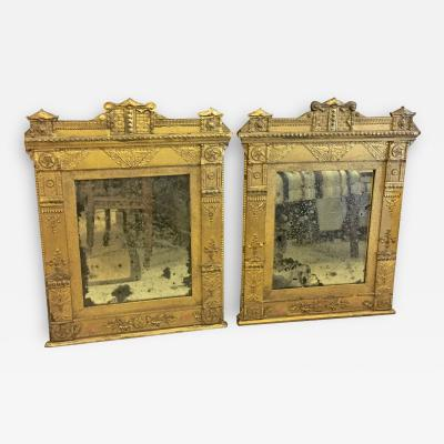 Pair French Directoire Gilt Mirrors