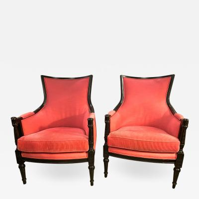 Pair French Directoire Style Bergeres