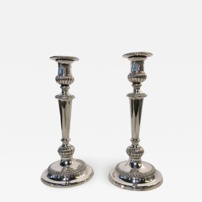 Pair Georgian Sheffield Candlesticks