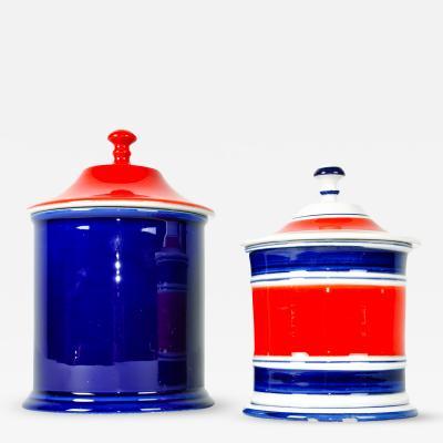 Pair Italian Porcelain Tableware Pieces