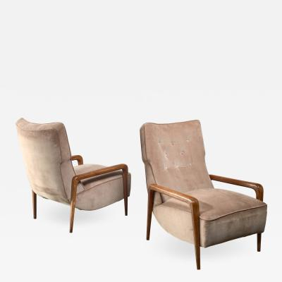 Pair Italian modern lounge chairs