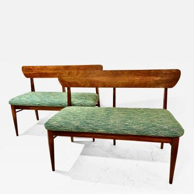 Pair Mid Century Bench