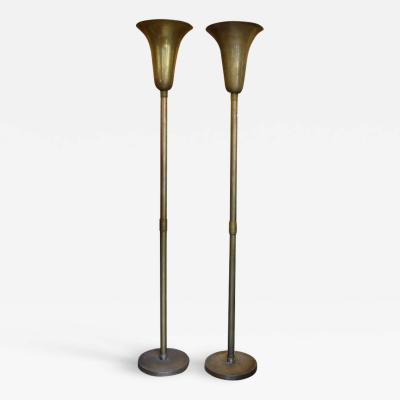 Pair Of 1940s Luminator Floor Lamps