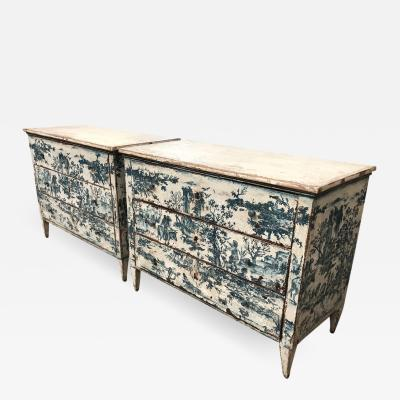 Pair Of 19th Century Spanish Painted Commodes